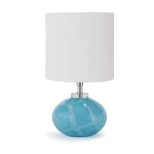 #8943 Blue Glass Orb Lamp