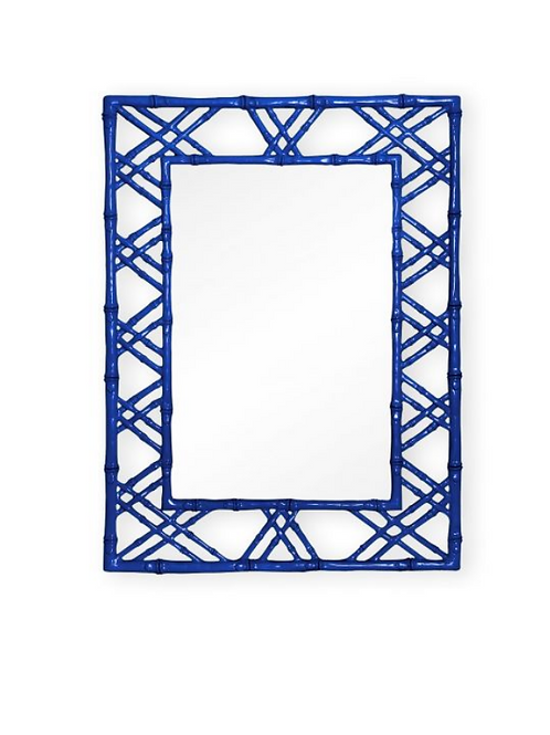 #10364 Navy Faux Bamboo Mirror