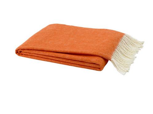#3598 Tangerine Herringbone Throw