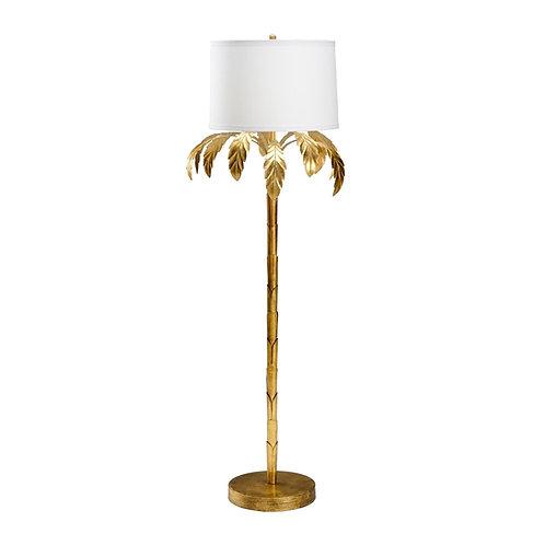 #10796 Gold Palm Floor Lamp