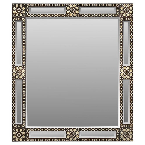 #6867 Mother of Pearl & Wood Mirror