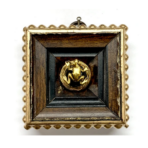 #10831 Gilt Frame with Frog on Brooch