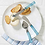 Thumbnail: #11061 Glass Handled Cheese Set