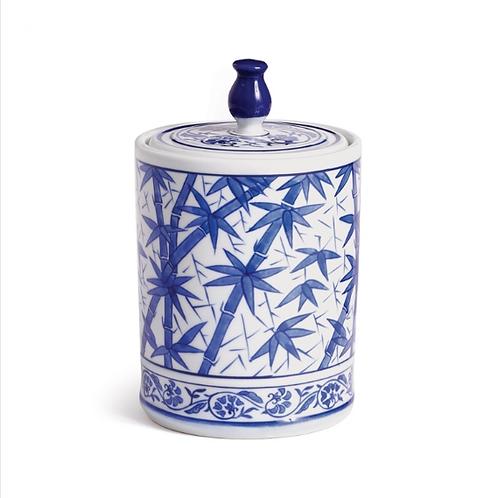#10464 Bamboo Lidded Jar