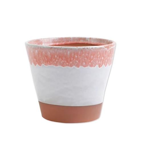 #9989 Garden Geo Cachepot (Medium Coral)