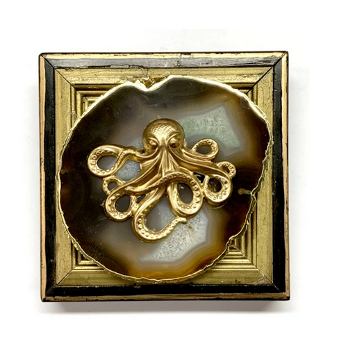 #10626 Lacquered Frame w/Octopus on Agate