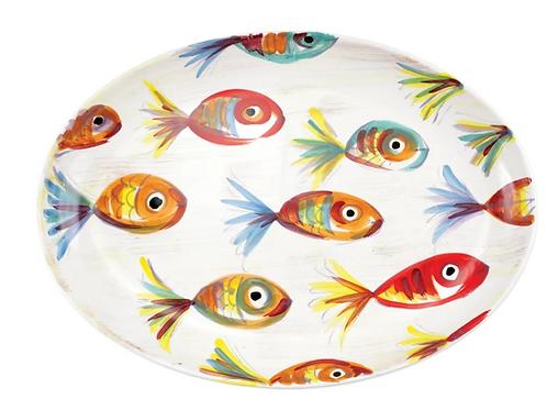 #9955 Pesci Colorati Oval Platter