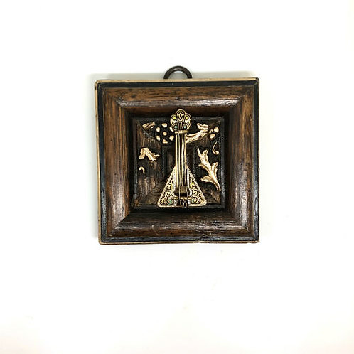#9842 Wooden Frame with Lute