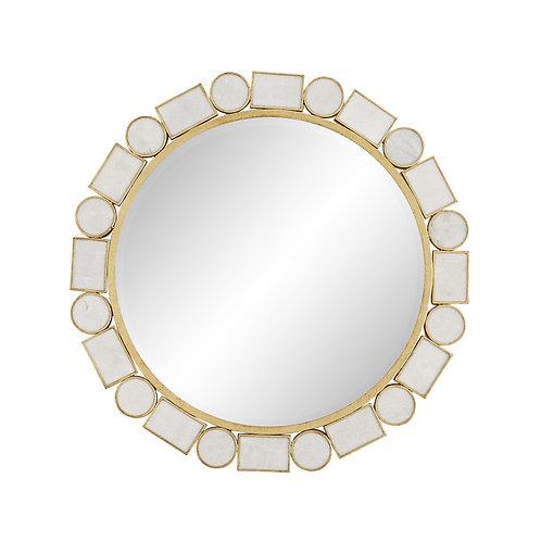 #10290 Marble Geometric Mirror