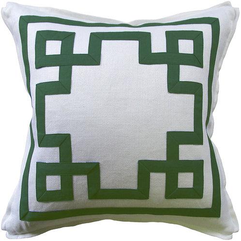 #9662 Fretwork Pillow-Kelly Green