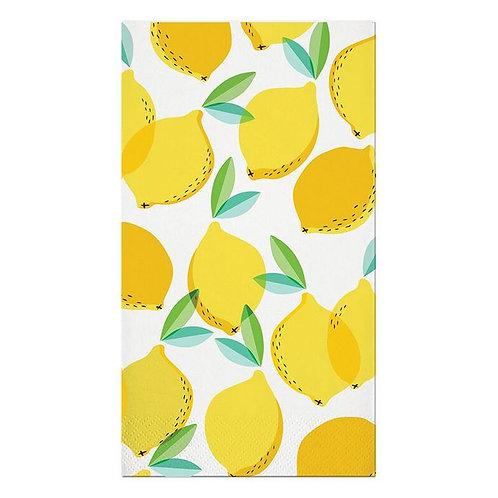 #10007 Lemon Guest Towel Napkins