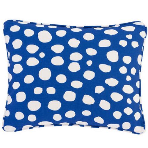 #12106 Spot On Pillow (Cobalt)