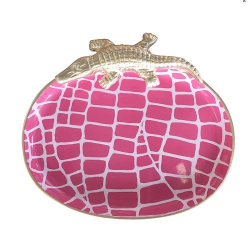 #6176 SM Croc Tray (Pink)