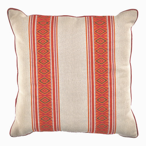 #10770 Melon Pillow w/Pink Piping