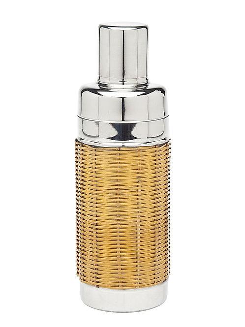 #11999 Rattan & Silver Shaker