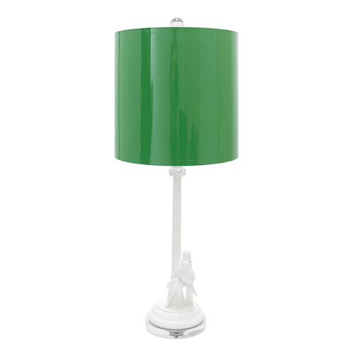 #11387 Parrot Palm Table Lamp (with shade)
