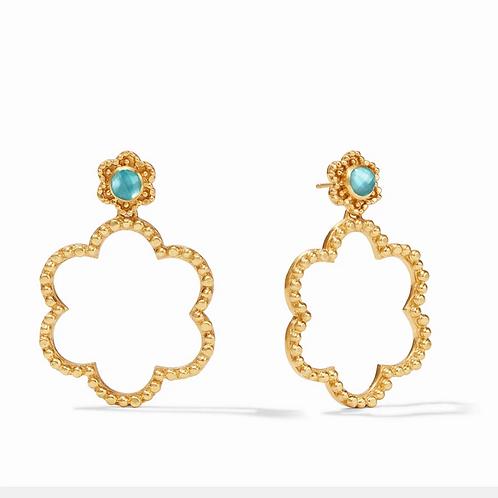 #11944 Colette Statement Earring (Bahamian Blue)