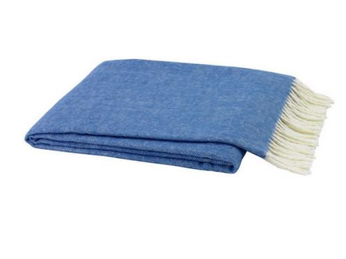 #3586 Marina Blue Herringbone Throw