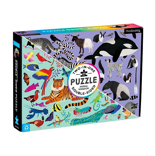 #10852 Animal Kingdom Double Sided Puzzle