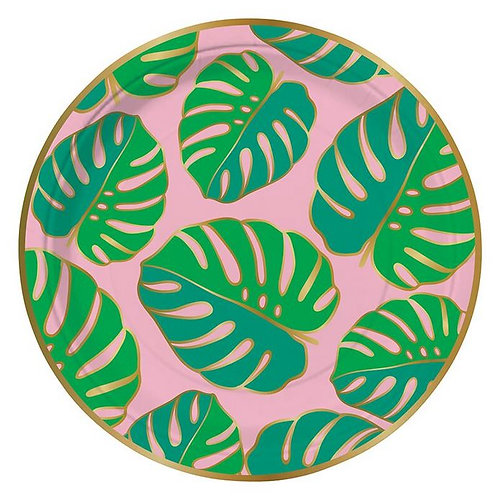 #9992 Monstera Leaves Paper Plates