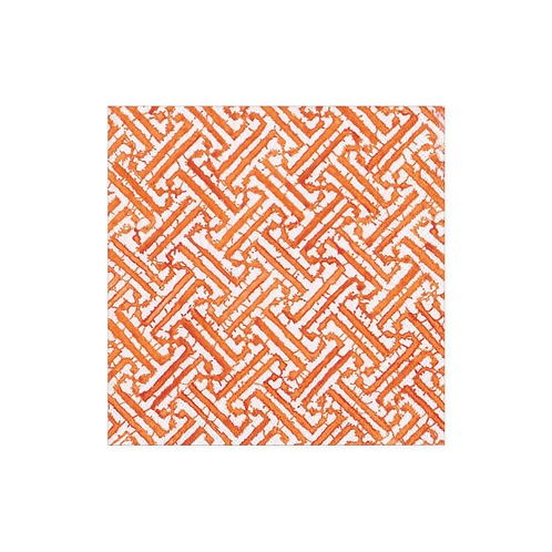 #11738 Cocktail Napkin (Fretwork Orange)