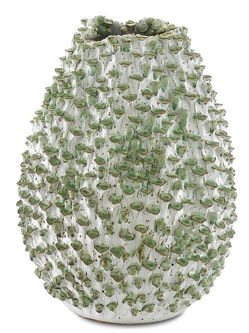 #12119 Terracotta Leaf Vase