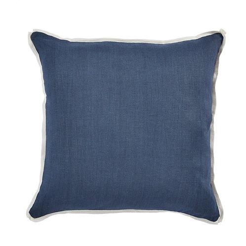 #11987 Linen w/White Flange Pillow