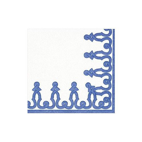 #11717 Paper Linen Cocktail Napkins (Blue)