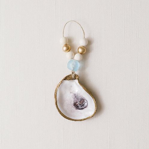 #6459 Oyster Ornament, Light Blue