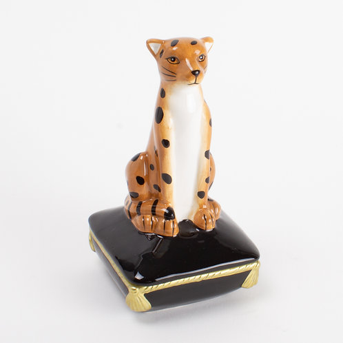#7028 Cheetah Trinket Box