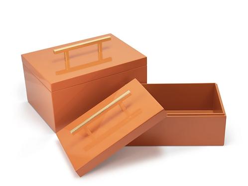 #11382 Orange Lacquer Box