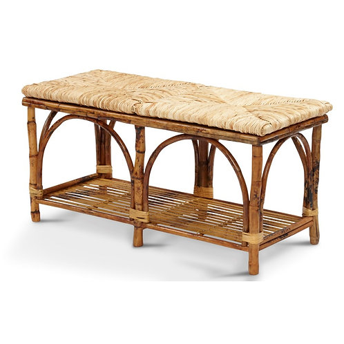 #11415 Woven Seat Bench
