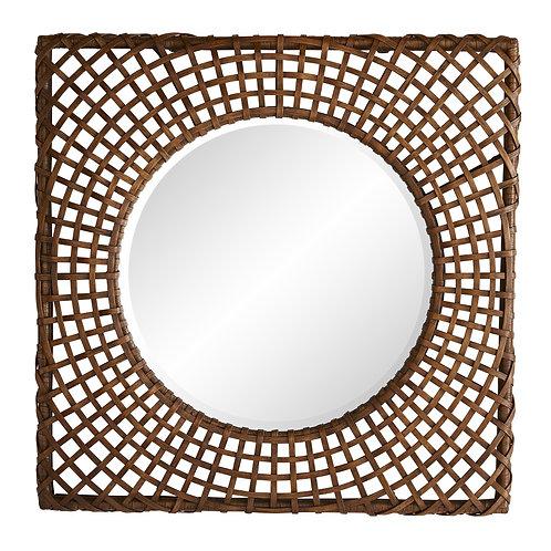 #10292 Rattan Woven Mirror