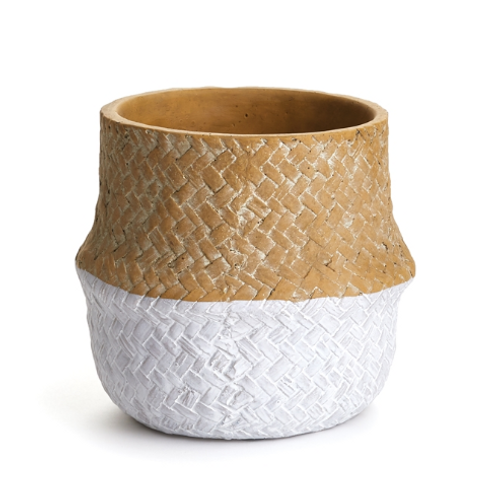 #10465 Small Basketweave Belly Pot