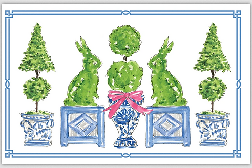 #11112 Bunny Topiaries Placemats