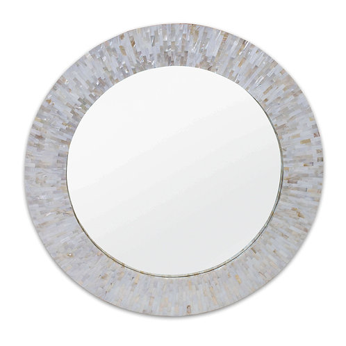 #8936 Ivory Mother of Pearl Mirror