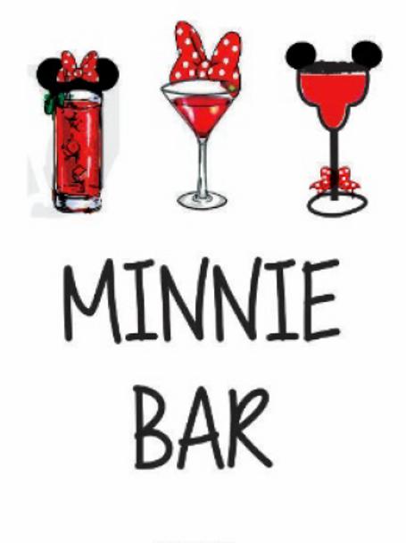 #9765 Minnie Bar Tea Towel