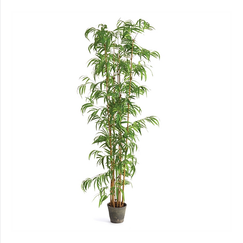 #10462 Faux Bamboo Potted Palm Tree