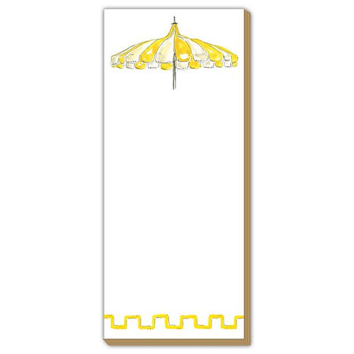 #10170 Yellow Umbrella Skinny Notepad