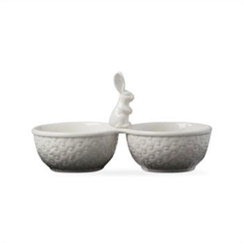 #9936  Bunny Basketweave Serving Dish