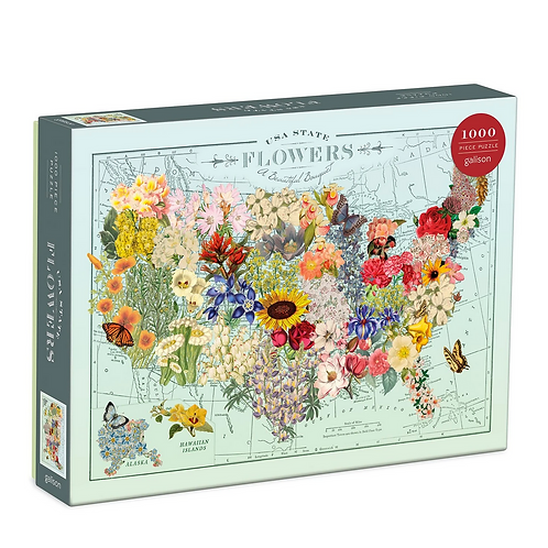 #9900 USA State Flowers Puzzle