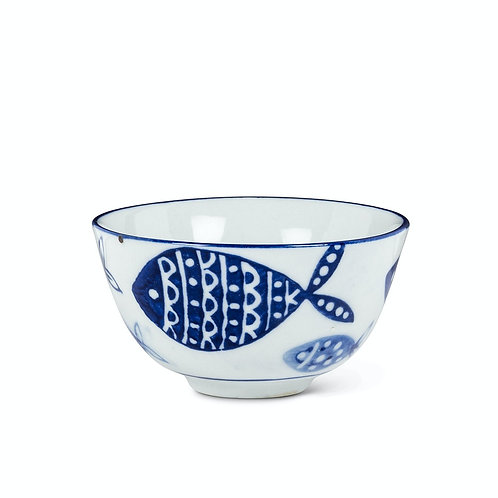 #10098 Blue Fish Dip Bowl