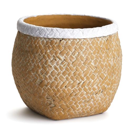 #10449 Large Basketweave Belly Pot