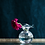 Thumbnail: #6414 Hibiscus Glass Fluted Vase (Large)
