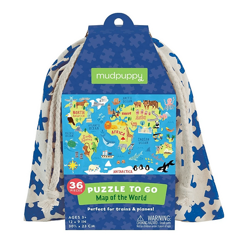 #6347 Map of the World Puzzle to Go