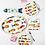 Thumbnail: #9955 Pesci Colorati Oval Platter