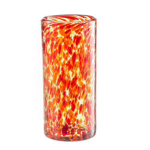 #10749 Glass Cylinder (Orange/Red)