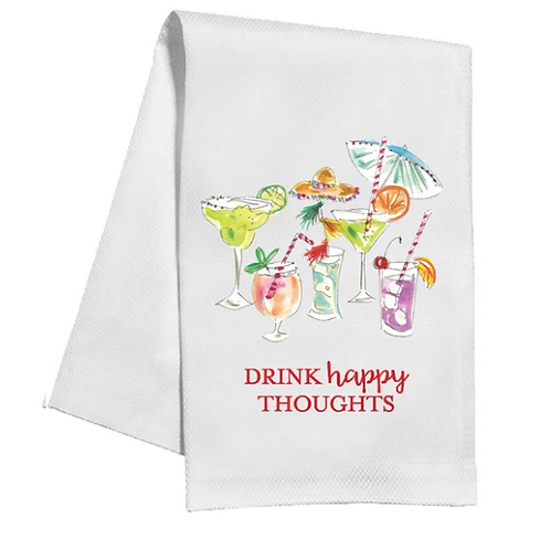 #11539 Drink Happy Thoughts Towel