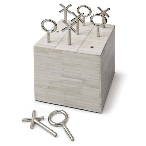 #3610 Tic Tac Toe Bone Block