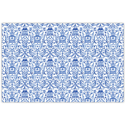 #11779 Blue Pagodas Placemat